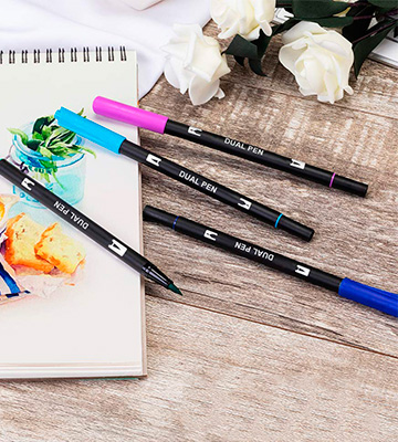 Review of Aen Art Dual Pen Calligraphy Brush Marker Pens