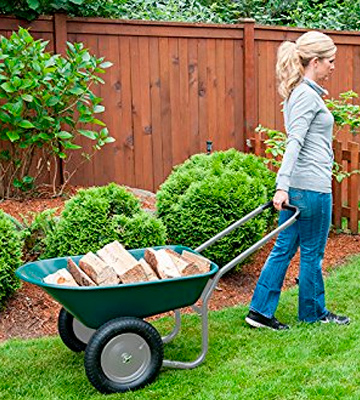 Review of Marathon Industries Dual-Wheel Residential Yard Rover Wheelbarrow and Yard Cart