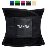 YIANNA Waist Trimmer Belt Back Support Adjustable Abdominal Elastic Waist