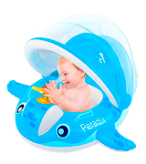 Peradix Inflatable with Canopy Baby Pool Float
