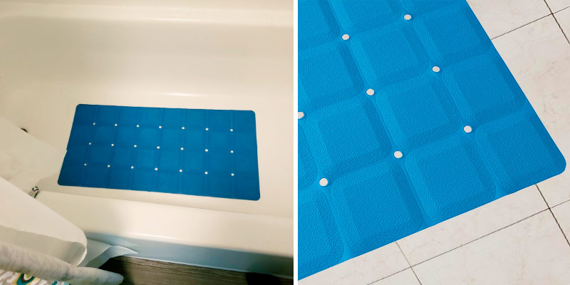 Review of Sultan's Linens 28x 14 Foldable Non Slip Rubber Bath Mat