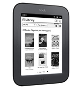 Barnes & Noble Nook 6 Simple Touch (Touchscreen) 2GB eBook Reader eReader (Wi-Fi Only) E-Ink Pearl Technology, MicroSD, USB 2.0 Expansion Ports - Books, Newspapers, Magazines