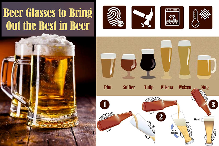 Comparison of Beer Glasses to Bring Out the Best in Beer