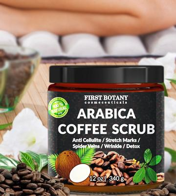 Review of First Botany Cosmeceuticals Natural Arabica Coffee Scrub, Anti Cellulite Cream