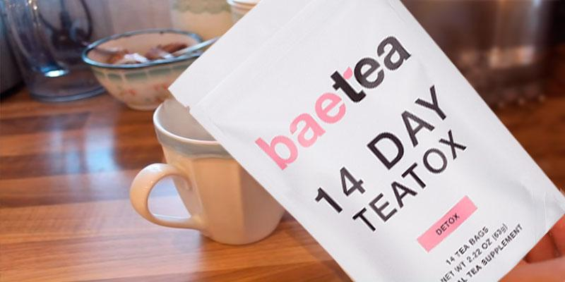 Baetea Gentle Detox Tea in the use