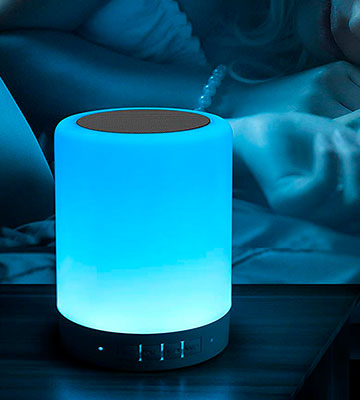 Review of ElecStars Touch Bedside Lamp with Bluetooth Speaker