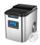 Aicok Counter Top Stainless Steel Portable Ice Maker Machine