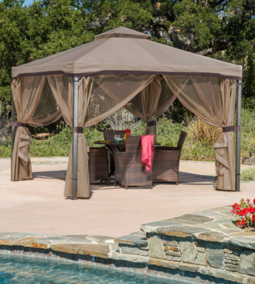 Review of Great Deal Furniture Sonoma 10'x10' Iron Gazebo with Soft Vented Roof