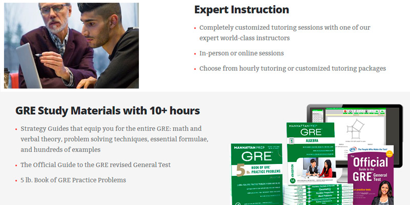 Manhattan Prep GRE Prep Courses, Tutoring in the use