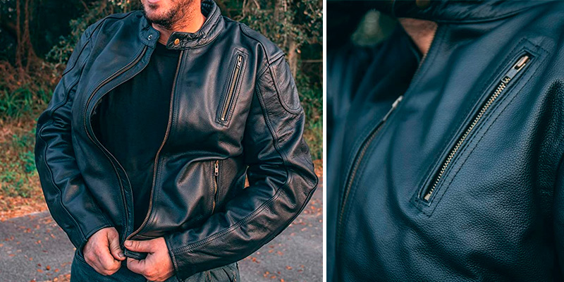 Review of HWK Leather Mens Motorcycle Jackets
