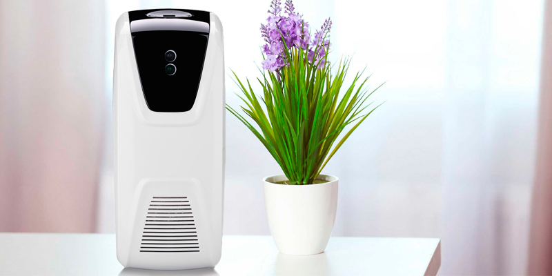 Review of Anself Air Freshener Dispenser Automatic Light Sensor Use Oil or Perfume Refillable Aerosol