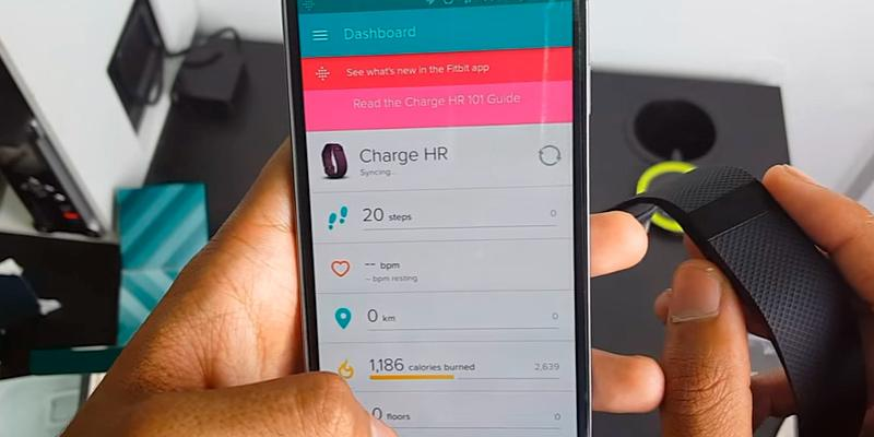 Fitbit Charge HR Wireless Activity Wristband in the use
