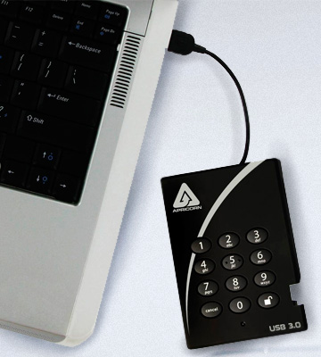 Review of Apricorn Aegis Padlock (A25-3PL256-1000) Encrypted External Hard Drive