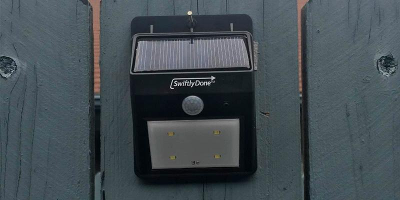 Detailed review of Swiftly Done 610694105778 Bright Solar Power Outdoor Light
