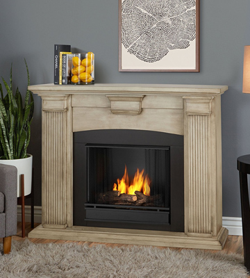 Review of Real Flame Adelaide Indoor Gel Fireplace in Dry Brush White
