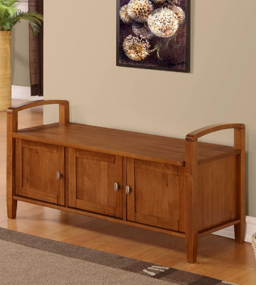 Review of Simpli Home Warm Shaker Entryway Storage Bench