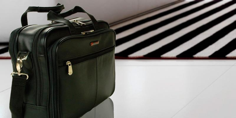 Review of Alpine Swiss Monroe Leather Laptop Bag