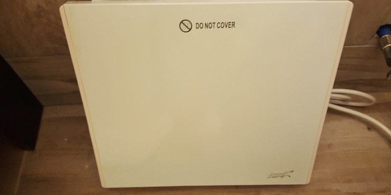 New Age Living Phantom 4 Wall Panel Heater in the use