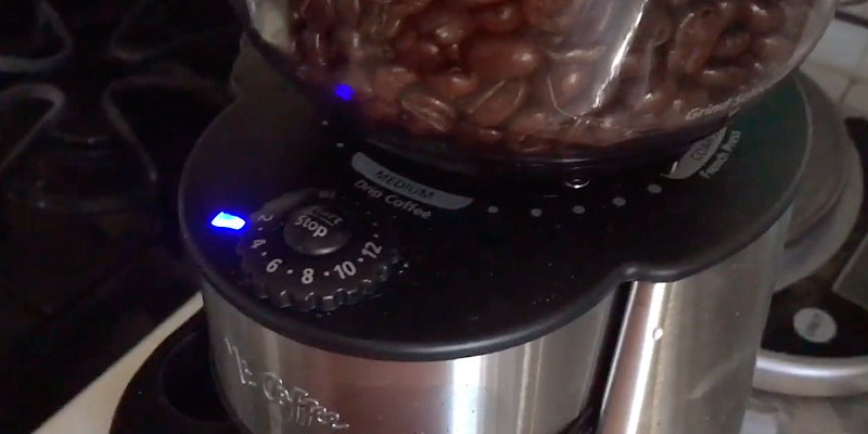 Mr. Coffee BVMC-BMH23 Automatic Burr Mill Grinder in the use