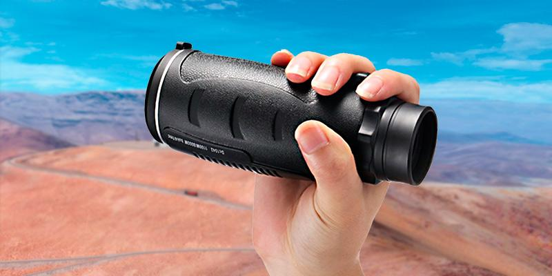 Aurosports 30X50 Compact Pocket-Sized High-Powered Monocular Telescope Binoculars in the use