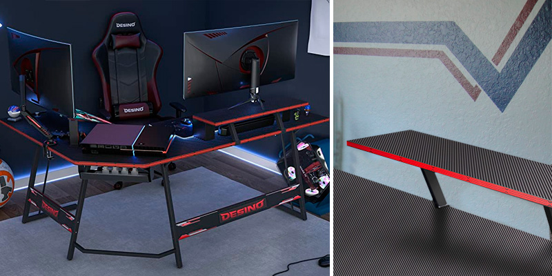 Review of DESINO 60 Inch L Shaped Gaming Desk