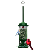 Brome 1057-V01 Squirrel Buster Standard Wild Bird Feeder with 4 Metal Perches