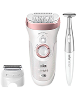 Braun Series 9-890 Silk-Epil Epilator, Hair Removal for Women
