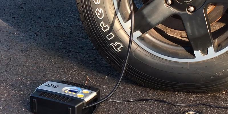 JACO Premium Digital Tire Inflator - Portable Air Compressor Pump in the use