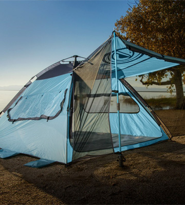 Review of WildHorn Outfitters Sun Escape XL QuickUp Beach Camping Tent