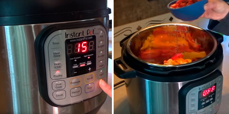 Instant Pot DUO80 (7-in-1) Electric Multi- Use Programmable Pressure Cooker in the use