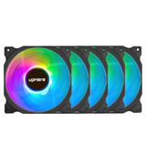 upHere (C8123) 120mm RGB Case Fan (5-Pack)