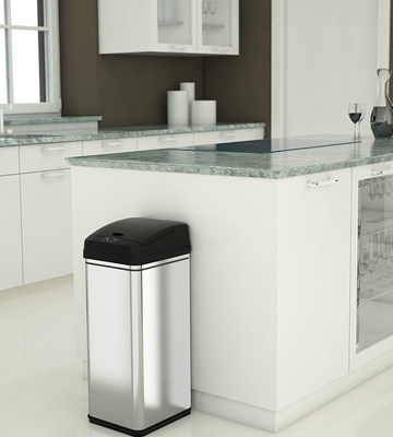 Review of iTouchless DZT13/IT13CB Automatic Trash Can with Odor Control System
