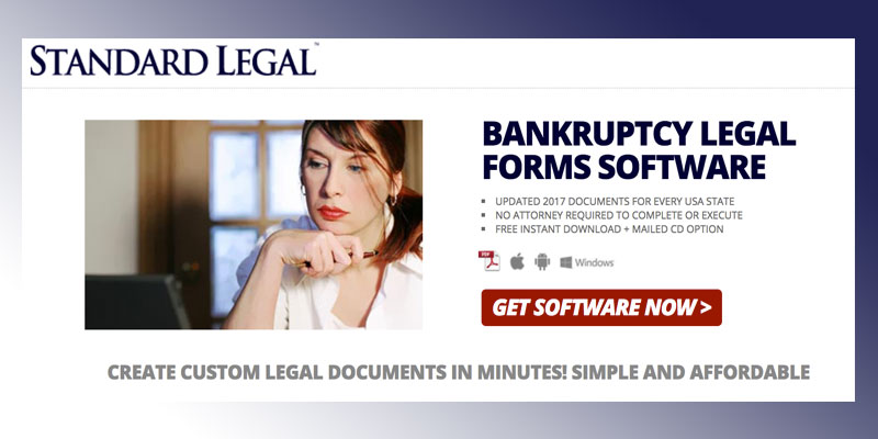 Detailed review of Standard Legal Bankruptcy Legal Forms Software