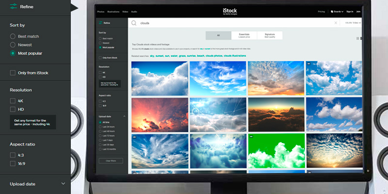 iStock HD Video Clips and 4K Stock Footage in the use