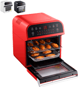 GoWISE USA GW44801 Electric Air Fryer Oven w/Rotisserie and Dehydrator