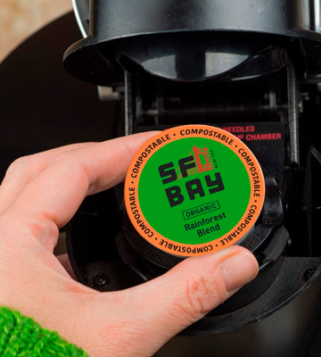 Review of SAN FRANCISCO BAY 80 Ct Organic Rainforest Blend Medium Roast Compostable Coffee Pods