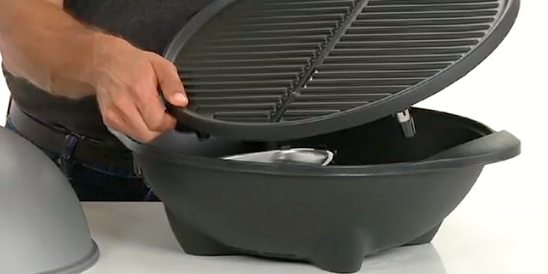 George Foreman GGR50B Indoor/Outdoor Grill in the use
