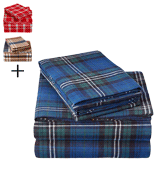 Pinzon by Amazon Blackwatch Plaid Flannel Bed Sheet Set