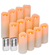 Enido Pack of 12 Battery Flameless Candles Led
