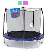 Skywalker Trampolines Jump N' Dunk Trampoline with Safety Enclosure and Basketball Hoop