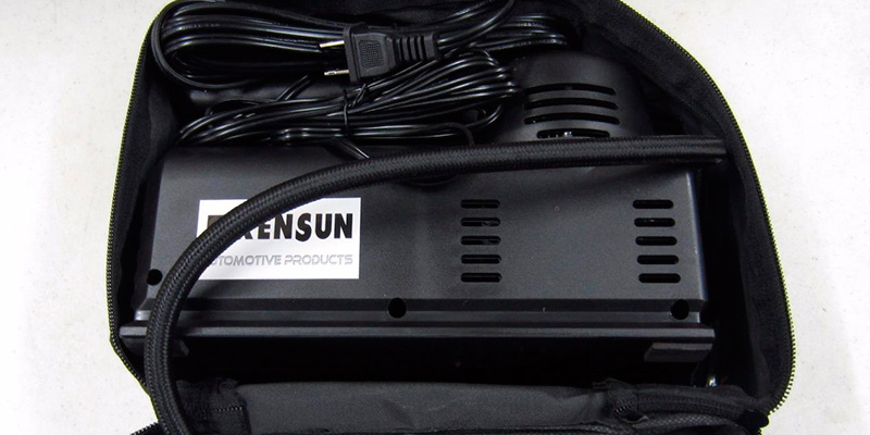 Kensun YS-205 Portable Air Compressor Tire Inflator in the use