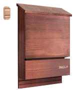 INCLY Natural Cedar Wood Bat House Kit for Outdoors