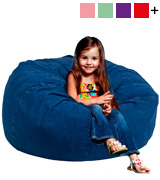 Flash Furniture DG-BEAN-LARGE-DENIM-GG Oversized Denim Kids Bean Bag Chair