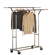 Deco Brothers Double Rail Garment Rolling Rack