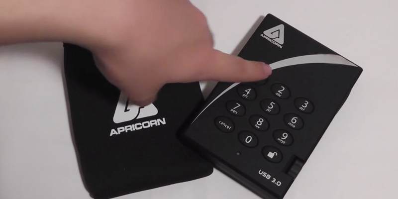 Apricorn Aegis Padlock (A25-3PL256-1000) Encrypted Portable External Hard Drive application