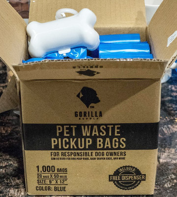 Review of Gorilla Supply 20 of 50 Rolls Pet Poop Bags with Free Dispenser