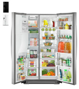 Kenmore Elite 51773 28 cu. ft. Side-by-Side Refrigerator with Accela Ice Technology