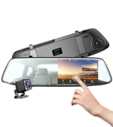 Toguard CE13 Mirror Dash Cam with Rear view Dual Lens
