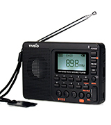 TIVDIO 4331019190 Portable Shortwave Transistor Radio AM/FM Stereo with MP3 Player Recorder Support T-Flash Card and Sleep Timer