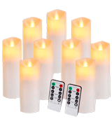 Aignis Pack of 9 Flickering Flameless Candles